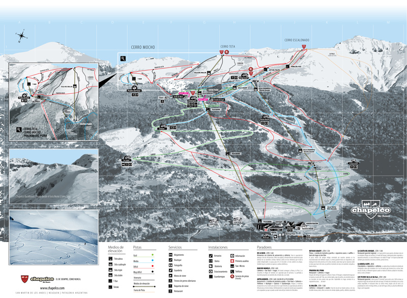 Mapa Pistas Chapelco